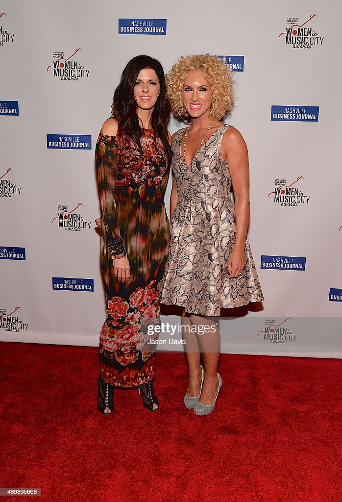 Recording artists Karen Fairchild and Kimberly Schlapman of Little Big Town arrive at the 2015 Women in Music City Awards on September 24 2015 in...