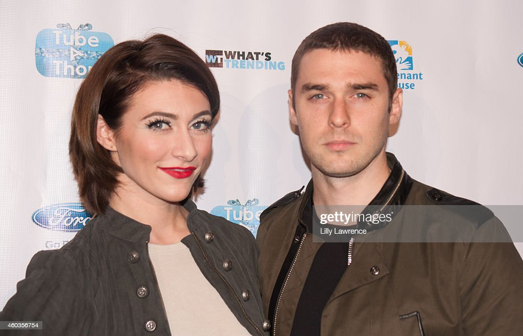 Recording artists 'Karmen' made up of Amy Renee Heidemann and Nicholas Louis 'Nick' Noonan attend What's Trending attends 3rd Annual TubeAThon on...