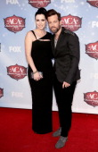 Recording artists Keifer Thompson and Shawna Thompson of Thompson Square arrive at the American Country Awards 2013 at the Mandalay Bay Events Center...