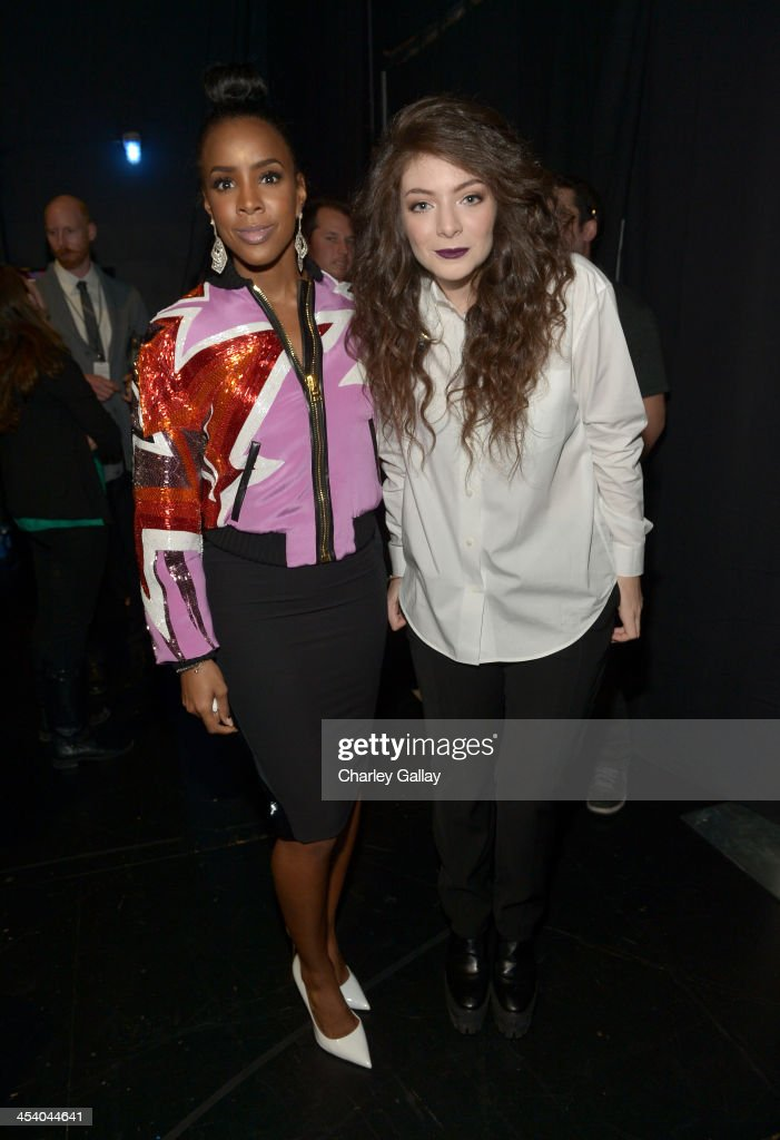 Recording artists Kelly Rowland and Lorde attend The GRAMMY Nominations Concert Live Countdown to Music's Biggest Night at Nokia Theatre LA Live on...