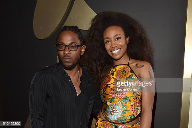 Recording artists Kendrick Lamar and SZA attend The 58th GRAMMY Awards at Staples Center on February 15 2016 in Los Angeles California