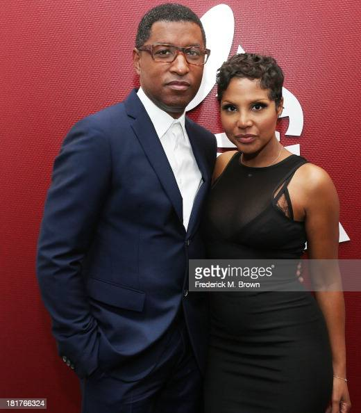 Recording artists Kenny 'Babyface' Edmonds and Toni Braxton attend A Conversation with Toni Braxton and Kenny 'Babyface' Edmonds at The Recording...