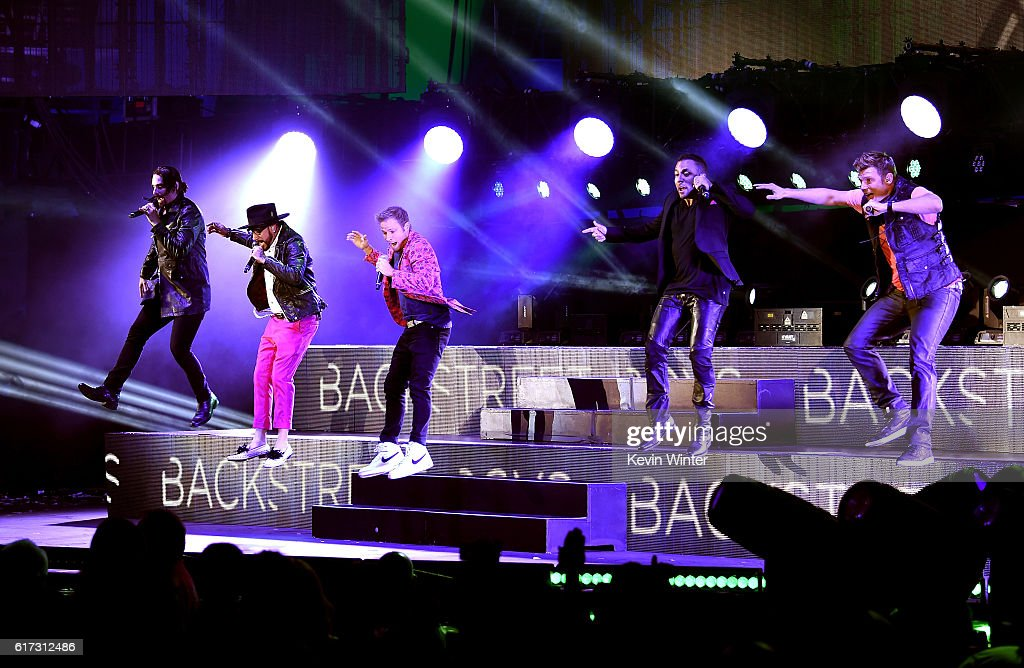 Recording artists Kevin Richardson, A.J. McLean, Brian Littrell, Howie Dorough and Nick Carter of Backstreet Boys perform onstage during CBS RADIO's fourth annual We Can Survive concert at the Hollywood Bowl on October 22, 2016 in Hollywood, California.