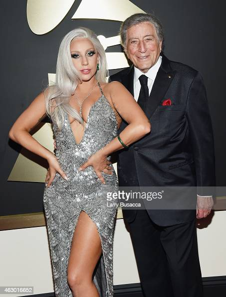 Recording Artists Lady Gaga and Tony Bennett attend The 57th Annual GRAMMY Awards at the STAPLES Center on February 8 2015 in Los Angeles California