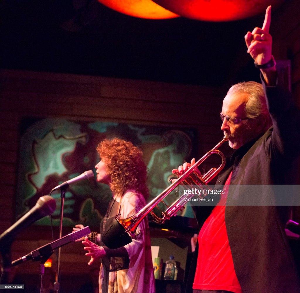 Recording artists Lani Hall and <a gi-track='captionPersonalityLinkClicked' href=/galleries/search?phrase=Herb+Alpert&family=editorial&specificpeople=700404 ng-click='$event.stopPropagation()'>Herb Alpert</a> perform at <a gi-track='captionPersonalityLinkClicked' href=/galleries/search?phrase=Herb+Alpert&family=editorial&specificpeople=700404 ng-click='$event.stopPropagation()'>Herb Alpert</a> Performs His New Album 'Steppin' Out' at Vibrato Bar & Grill on October 3, 2013 in Los Angeles, California.