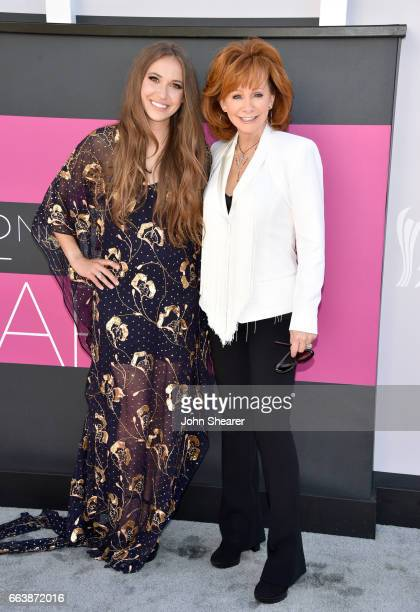 Recording artists Lauren Daigle and Reba McEntire attend the 52nd Academy Of Country Music Awards at Toshiba Plaza on April 2 2017 in Las Vegas Nevada