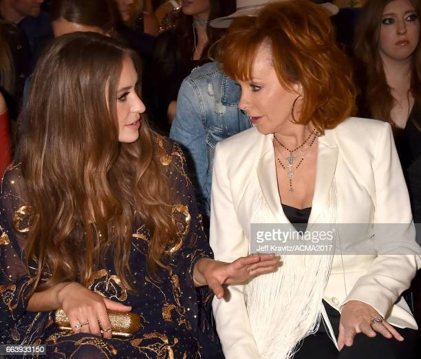 Recording artists Lauren Daigle and Reba McEntire attend the 52nd Academy Of Country Music Awards at TMobile Arena on April 2 2017 in Las Vegas Nevada