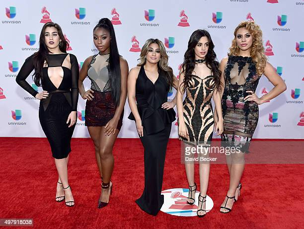 Recording artists Lauren Jauregui Normani Hamilton Ally Brooke Camila Cabello and DinahJane Hansen of music group Fifth Harmony attend the 16th Latin...
