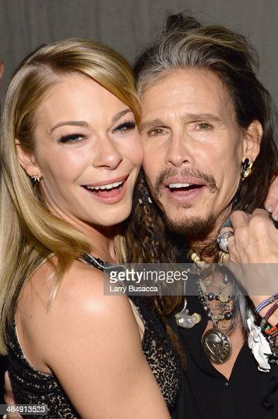 Recording artists LeAnn Rimes and Steven Tyler attend 2014 MusiCares Person Of The Year Honoring Carole King at Los Angeles Convention Center on...