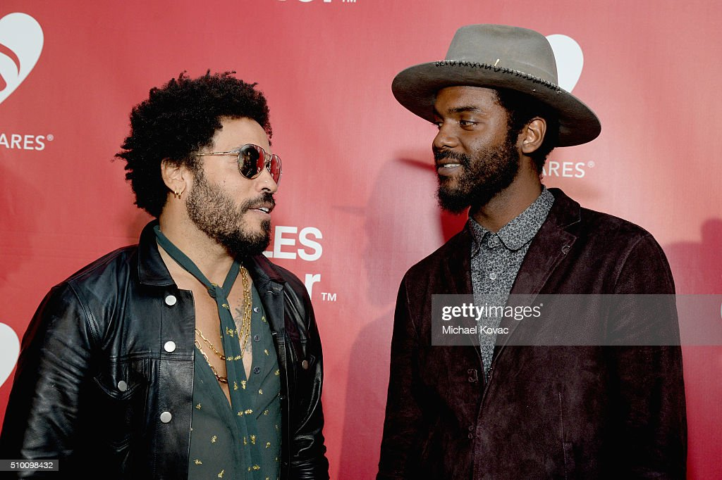 Recording artists <a gi-track='captionPersonalityLinkClicked' href=/galleries/search?phrase=Lenny+Kravitz&family=editorial&specificpeople=171613 ng-click='$event.stopPropagation()'>Lenny Kravitz</a> (L) and <a gi-track='captionPersonalityLinkClicked' href=/galleries/search?phrase=Gary+Clark+Jr.&family=editorial&specificpeople=4495733 ng-click='$event.stopPropagation()'>Gary Clark Jr.</a> attend the 2016 MusiCares Person of the Year honoring Lionel Richie at the Los Angeles Convention Center on February 13, 2016 in Los Angeles, California.