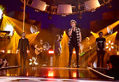 Recording artists Liam Payne Harry Styles Niall Horan and Louis Tomlinson of the music group One Direction perform onstage during the 2014...