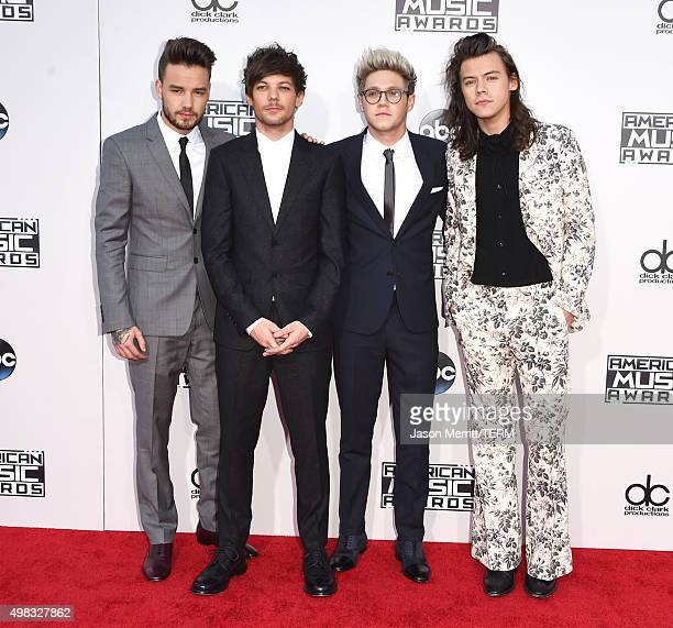 Recording artists Liam Payne Louis Tomlinson Niall Horan and Harry Styles of One Direction attend the 2015 American Music Awards at Microsoft Theater...