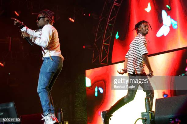 Recording artists Lil Uzi Vert and Playboi Carti perform at night one of the 2017 BET Experience STAPLES Center Concert sponsored by Hulu at Staples...