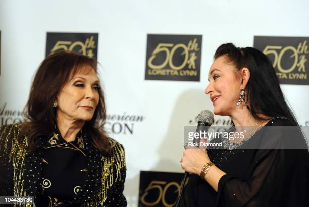 Recording Artists Loretta Lynn and Sister Crystal Gayle at Loretta Lynn A Tribute To An American Country Music Icon at The Loretta Lynn Ranch on...