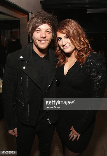 Recording artists Louis Tomlinson and Meghan Trainor attend Sony Music Entertainment 2016 PostGrammy Reception at Hotel Bel Air on February 15 2016...