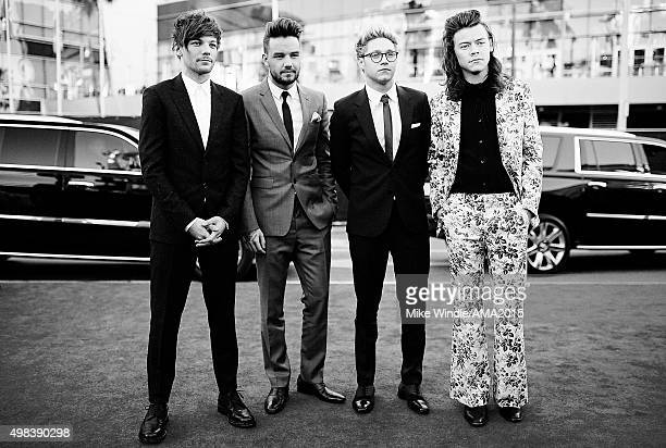 Recording artists Louis Tomlinson Liam Payne Niall Horan and Harry Styles of music group One Directio attend the 2015 American Music Awards at...