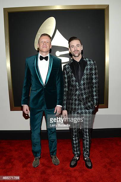 Recording Artists Macklemore and Ryan Lewis attend the 56th GRAMMY Awards at Staples Center on January 26 2014 in Los Angeles California