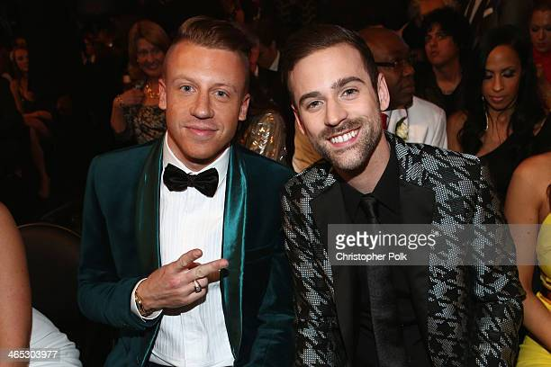 Recording artists Macklemore and Ryan Lewis winners of Best New Artist attend the 56th GRAMMY Awards at Staples Center on January 26 2014 in Los...