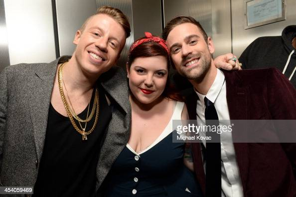 Recording artists Macklemore Mary Lambert and Ryan Lewis attend The GRAMMY Nominations Concert Live Countdown to Music's Biggest Night at Nokia...