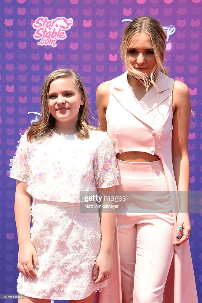 Recording artists Maisy Stella (L) and Lennon Stella of Lennon & Maisy attend the 2016 Radio Disney Music Awards at Microsoft Theater on April 30, 2016 in Los Angeles, California.