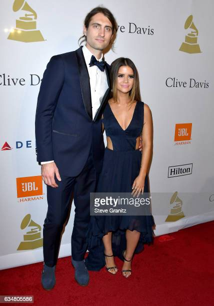 Recording artists Maren Morris and Ryan Hurd attend PreGRAMMY Gala and Salute to Industry Icons Honoring Debra Lee at The Beverly Hilton on February...