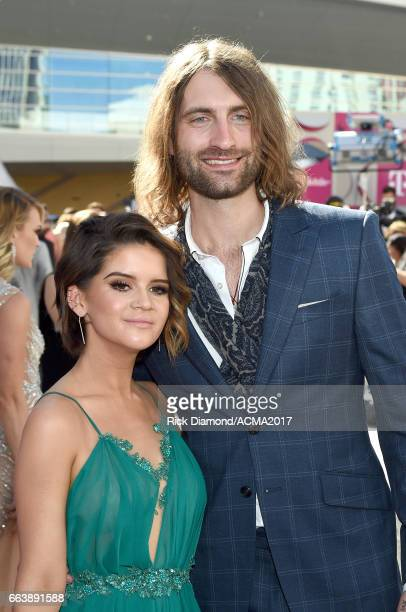 Recording artists Maren Morris and Ryan Hurd attend the 52nd Academy Of Country Music Awards at Toshiba Plaza on April 2 2017 in Las Vegas Nevada