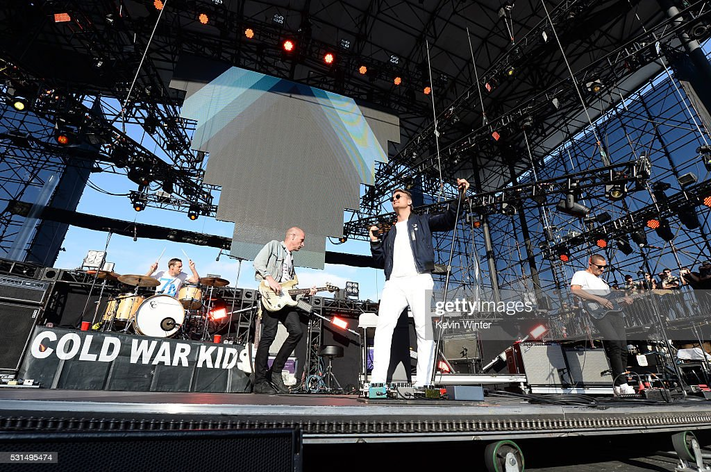 Recording artists Matt Maust and Nathan Willett of music group Cold War Kids perform onstage at KROQ Weenie Roast 2016 at Irvine Meadows Amphitheatre...