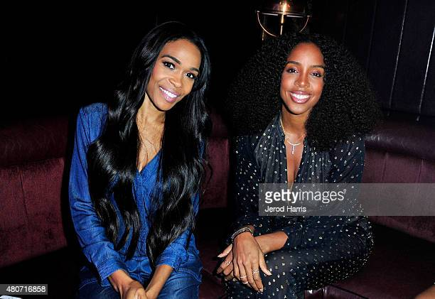 Recording artists Michelle Williams and Kelly Rowland attend the WE tv's LA Hair Season 4 Premiere Party at Avalon on July 14 2015 in Hollywood...