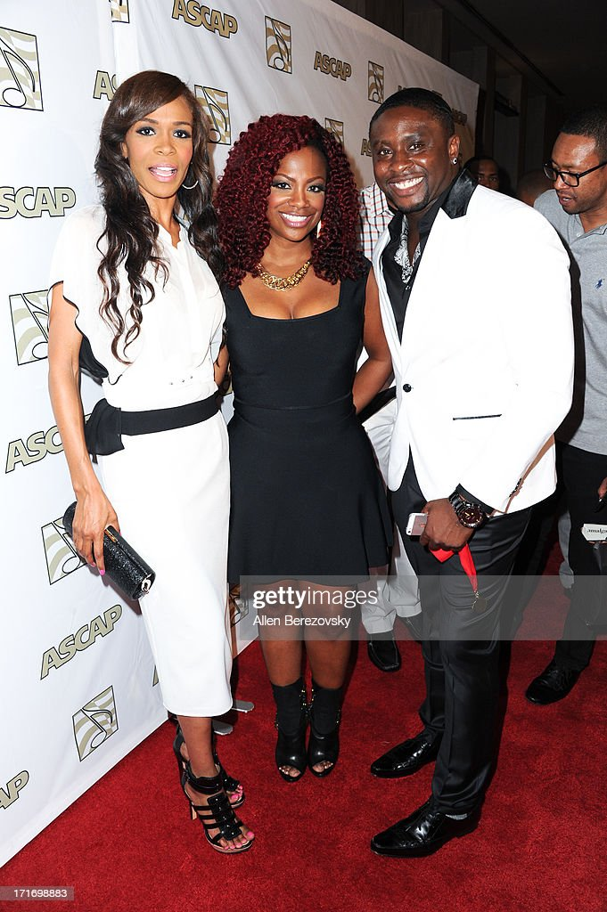 Recording artists Michelle Williams, <a gi-track='captionPersonalityLinkClicked' href=/galleries/search?phrase=Kandi+Burruss&family=editorial&specificpeople=4401257 ng-click='$event.stopPropagation()'>Kandi Burruss</a> and Harmony Samuels arrive at ASCAP's 26th Annual Rhythm & Soul Music Awards at The Beverly Hilton Hotel on June 27, 2013 in Beverly Hills, California.