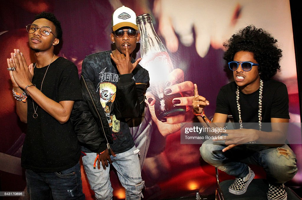 Recording artists Mike, EJ and <a gi-track='captionPersonalityLinkClicked' href=/galleries/search?phrase=Princeton+-+Musician&family=editorial&specificpeople=9744235 ng-click='$event.stopPropagation()'>Princeton</a> of Mindless Behavior attend the Coke music studio during the 2016 BET Experience on June 26, 2016 in Los Angeles, California.