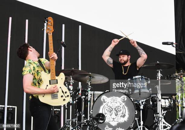 Recording artists Mike Kerr and Ben Thatcher of Royal Blood perform onstage at What Stage during Day 4 of the 2017 Bonnaroo Arts And Music Festival...