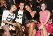 Recording artists Miley Cyrus honoree Jeremy Scott recording artists Rihanna and Katy Perry attend The DAILY FRONT ROW 'Fashion Los Angeles Awards'...
