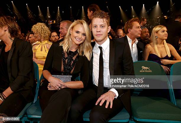 Recording artists Miranda Lambert and Anderson East attend the 51st Academy of Country Music Awards at MGM Grand Garden Arena on April 3 2016 in Las...
