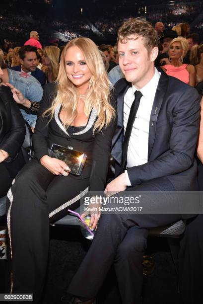 Recording artists Miranda Lambert and Anderson East attend the 52nd Academy Of Country Music Awards at TMobile Arena on April 2 2017 in Las Vegas...