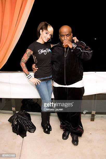 Recording artists Misty Gonzales and CeeLo attend the Launch Of Sportie LA's Special Edition Fila Shoe on December 10 2008 in Los Angeles California