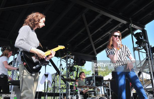Recording artists Myles Kellock Josh Dewhurst Joe Donovan and Tom Ogden of Blossoms perform onstage at Who Stage during Day 2 of the 2017 Bonnaroo...