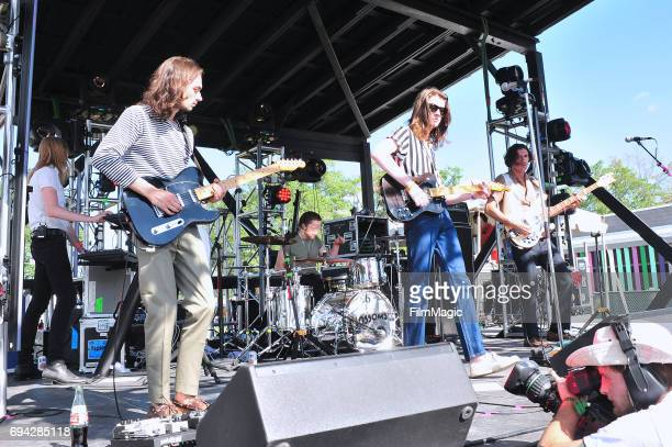 Recording artists Myles Kellock Josh Dewhurst Joe Donovan Tom Ogden and Charlie Salt of Blossoms perform onstage at Who Stage during Day 2 of the...