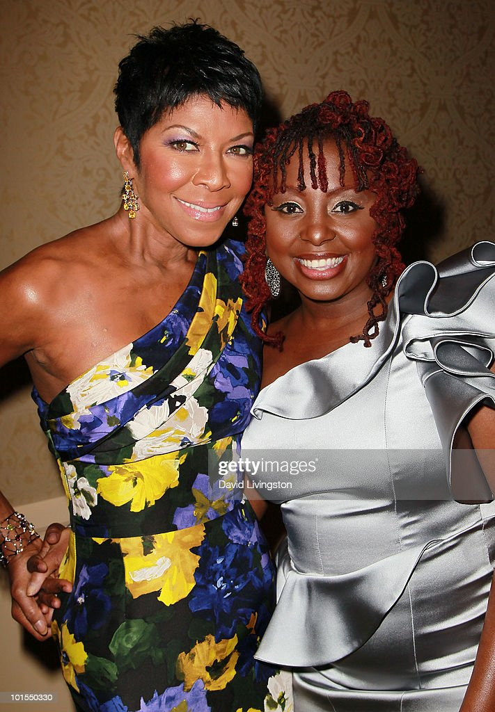 Recording artists Natalie Cole and Ledisi attends the Society of Singers annual tribute gala at the Beverly Hilton on June 1 2010 in Beverly Hills...