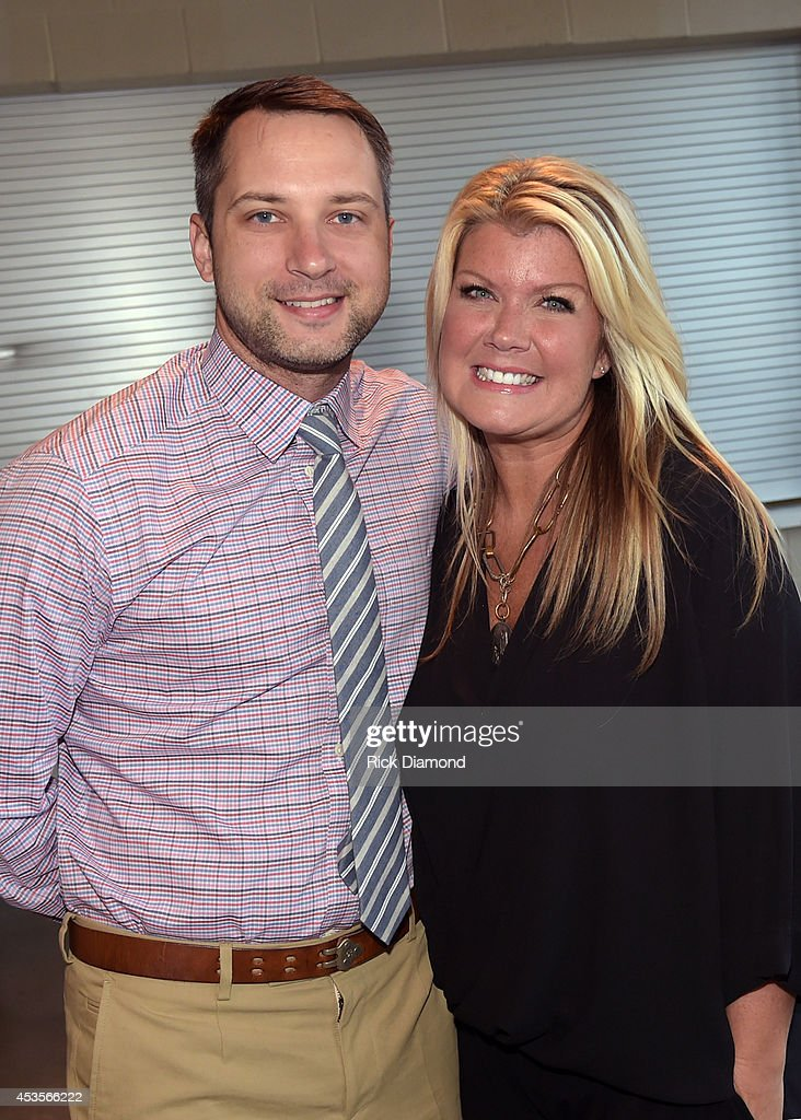 Recording Artists, Natalie Grant and Brandon Heath during the 45th Annual GMA Dove Awards Nominations Press Conference at Allen Arena on Lipscomb University campus, August 13, 2014 in Nashville, Tennessee.