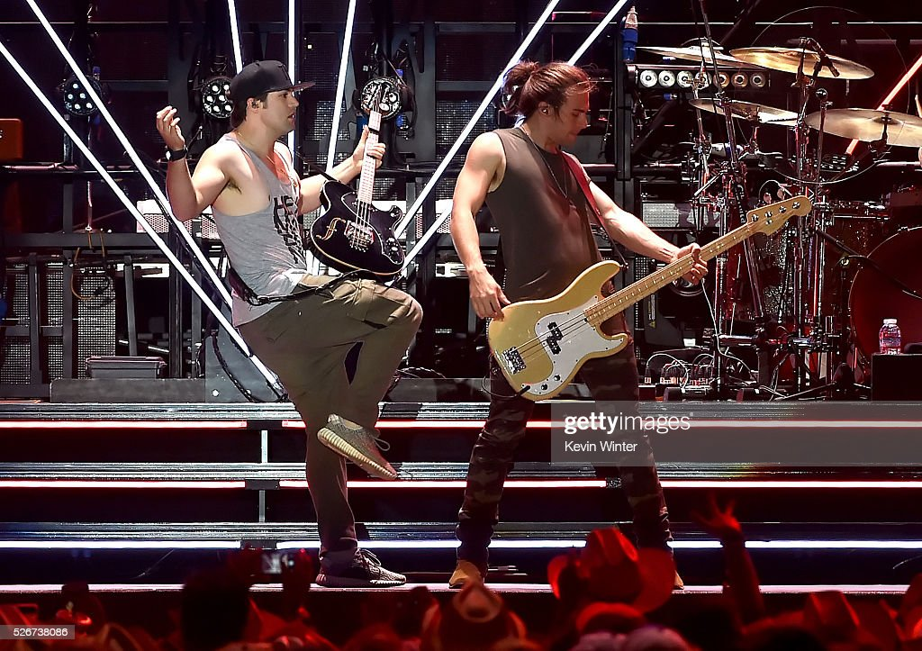 Recording artists Neil Perry (L) and Reid Perry of The Band Perry perform onstage during 2016 Stagecoach California's Country Music Festival at Empire Polo Club on April 30, 2016 in Indio, California.