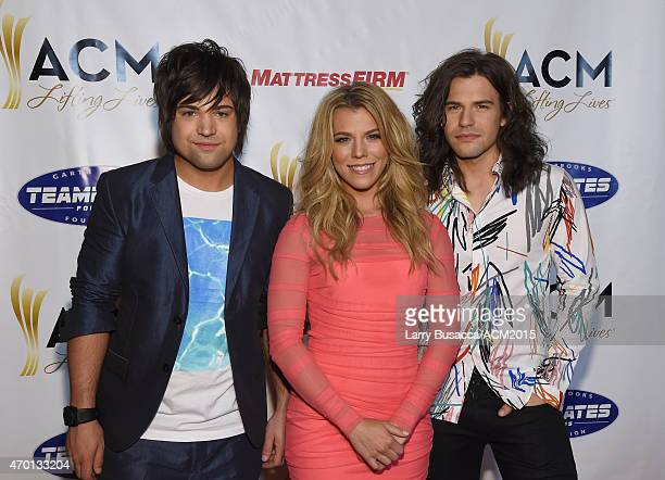 Recording artists Neil Perry Kimberly Perry and Reid Perry of music group The Band Perry attend the ACM Lifting Lives Gala at the Omni Hotel on April...