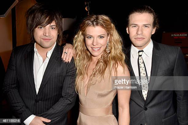 Recording artists Neil Perry Kimberly Perry and Reid Perry of The Band Perry attend The 41st Annual People's Choice Awards at Nokia Theatre LA Live...