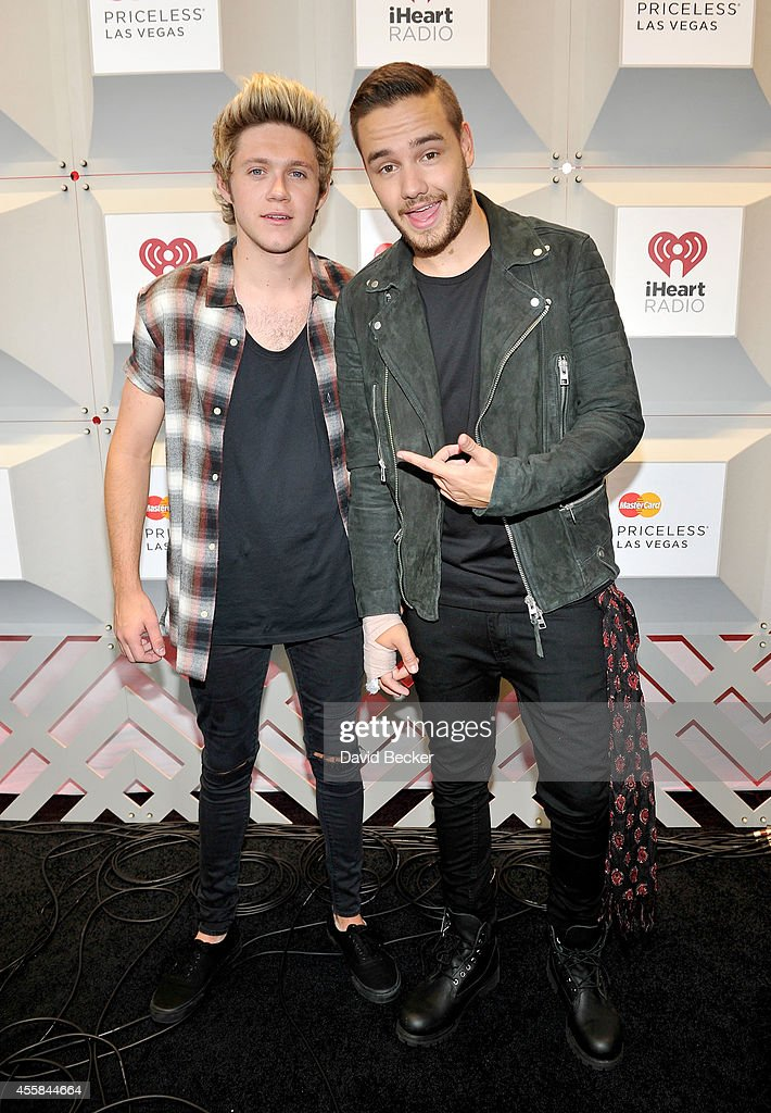Recording artists Niall Horan and Liam Payne of One Direction pose in the press room during the 2014 iHeartRadio Music Festival at MGM Grand Garden...