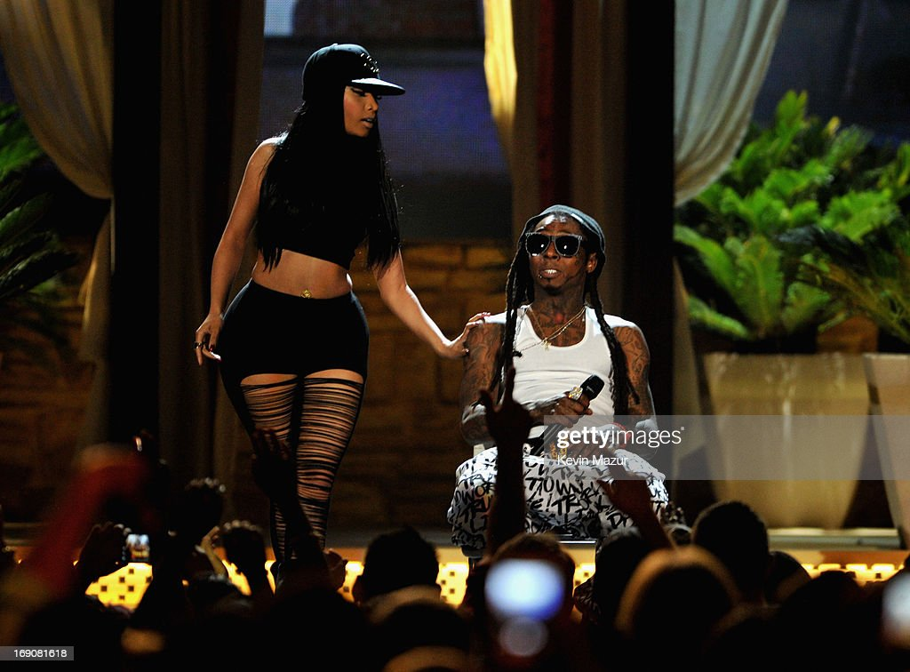 Recording artists Nicki Minaj and Lil Wayne perform onstage during the 2013 Billboard Music Awards at the MGM Grand Garden Arena on May 19, 2013 in Las Vegas, Nevada.