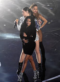 Recording artists Nicki Minaj Jessie J and Ariana Grande perform onstage during the 2014 MTV Video Music Awards at The Forum on August 24 2014 in...