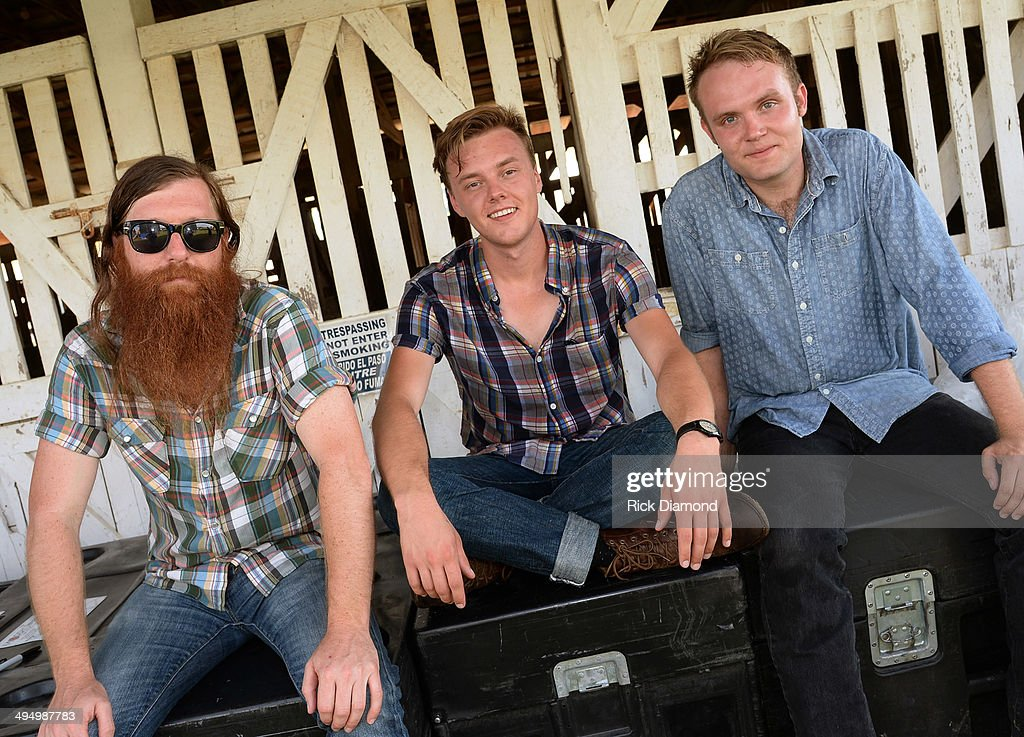 Recording Artists Parker Millsap (center) and band mates Daniel Foulks and Michael Rose during Americana's Cross County Lines at The Park at Harlinsdale Farm on May 31, 2014 in Franklin, Tennessee.
