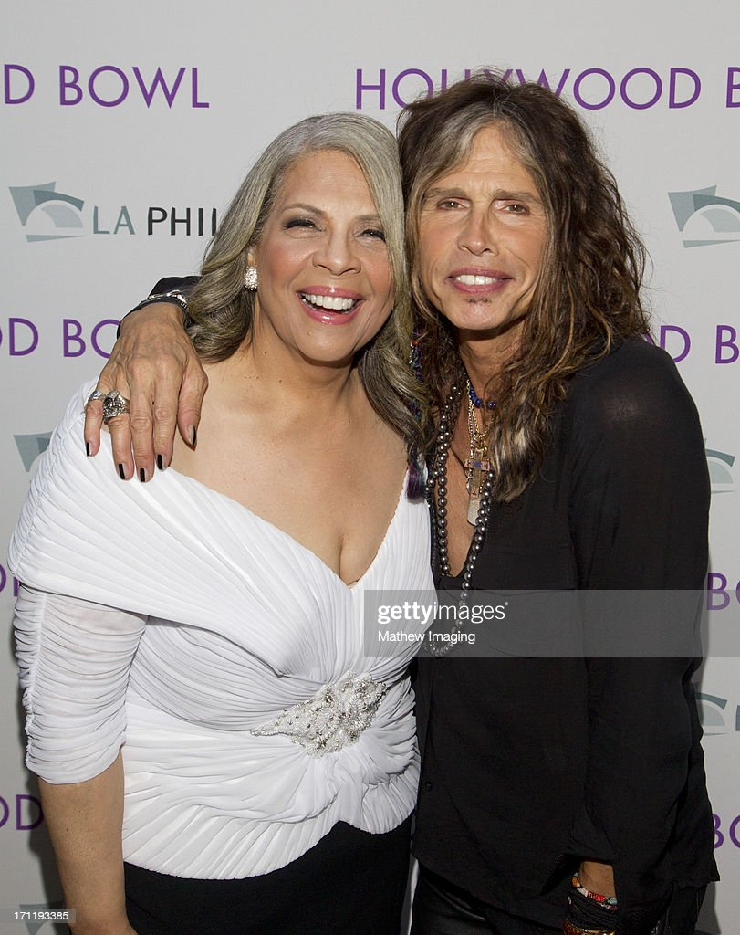 Recording artists <a gi-track='captionPersonalityLinkClicked' href=/galleries/search?phrase=Patti+Austin&family=editorial&specificpeople=782729 ng-click='$event.stopPropagation()'>Patti Austin</a> and <a gi-track='captionPersonalityLinkClicked' href=/galleries/search?phrase=Steven+Tyler+-+Musician&family=editorial&specificpeople=202080 ng-click='$event.stopPropagation()'>Steven Tyler</a> attend Hollywood Bowl Opening Night Gala - Inside at The Hollywood Bowl on June 22, 2013 in Los Angeles, California.