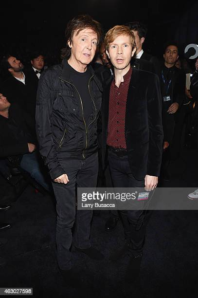 Recording Artists Paul McCartney and Beck attend The 57th Annual GRAMMY Awards at the STAPLES Center on February 8 2015 in Los Angeles California