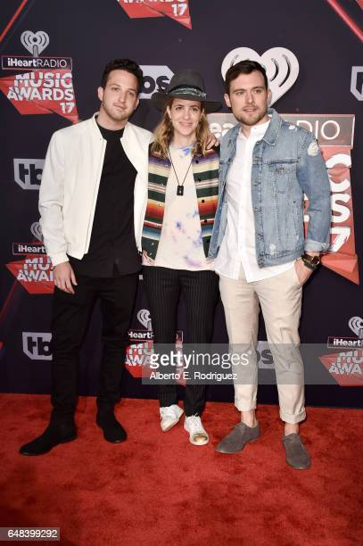 Recording artists Pete Nappi Samantha Ronson and Ethan Thompson of music group Ethan Thompson attend the 2017 iHeartRadio Music Awards which...