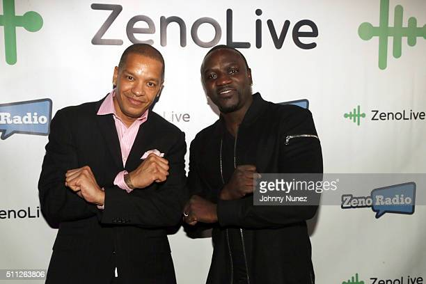 Recording artists Peter Gunz and Akon attend Zeno Live Hosted By Akon at Marquee on February 18 in New York City